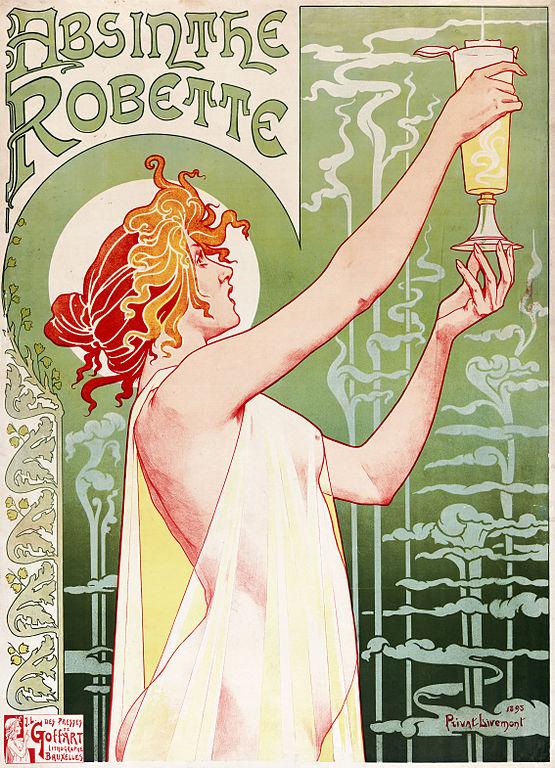 Henri Privat-Livemont, Absinthe Robette, 1895, Wikimedia Commons