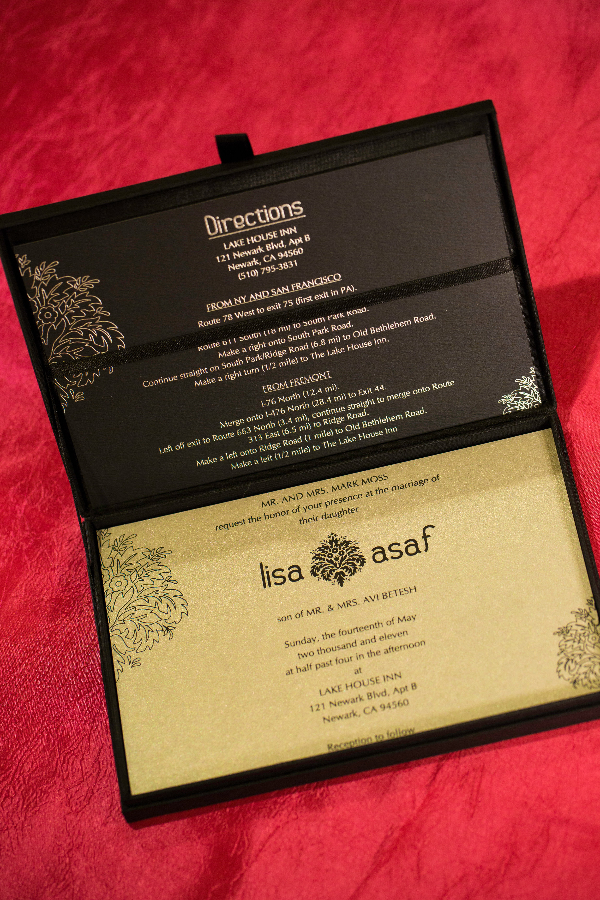 Directions or a Map Card are handy pieces of information for your guests