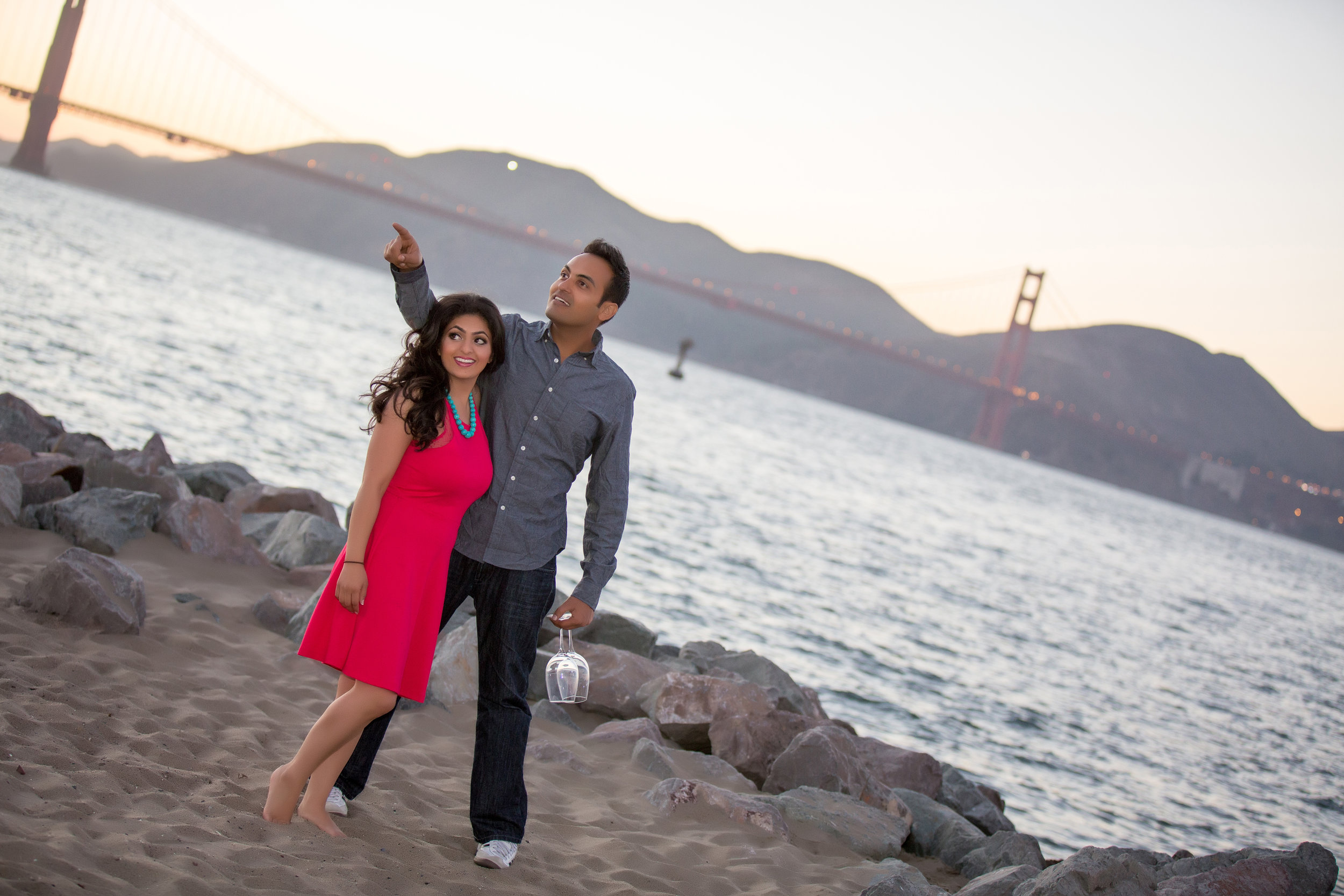 The Happy Couple visiting the Golden Gate Bridge