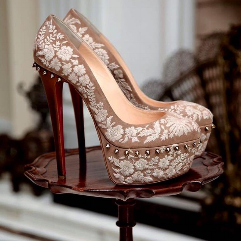 Louboutin pumps inspired by Sabyasachi