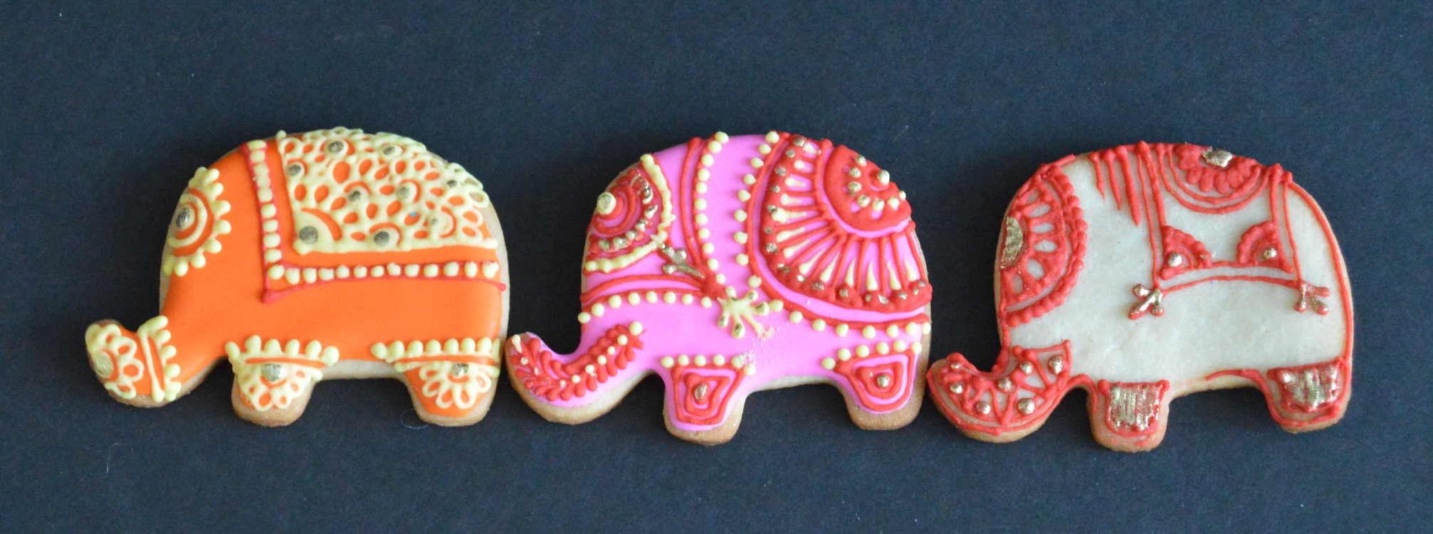 Elephant henna cookies from Bake Me Something make the perfect gifts for your guests!