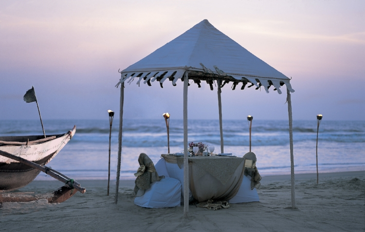 A romantic beach dinner for two in Goa