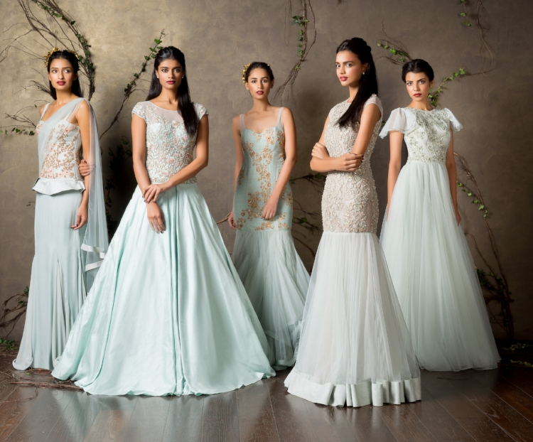 A variety of beautiful styles in flattering bridal pastels.