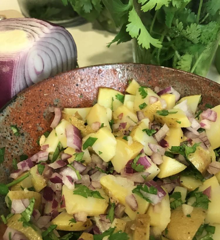 Masala Potato Salad (Alloo Chaat)