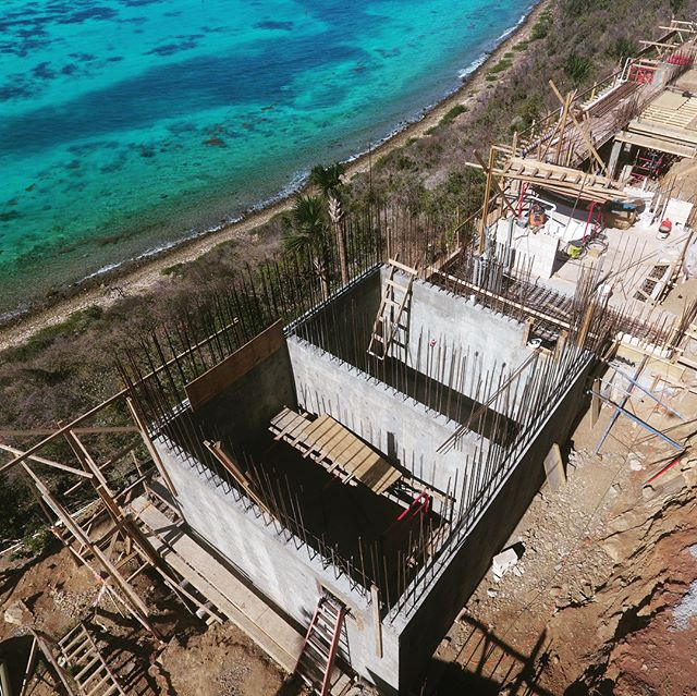 Construction update - Oil Nut Bay Residence. #architecture #design #constructon #carribean #luxuryhomes #villa #sitework #architecturephotography #bvi