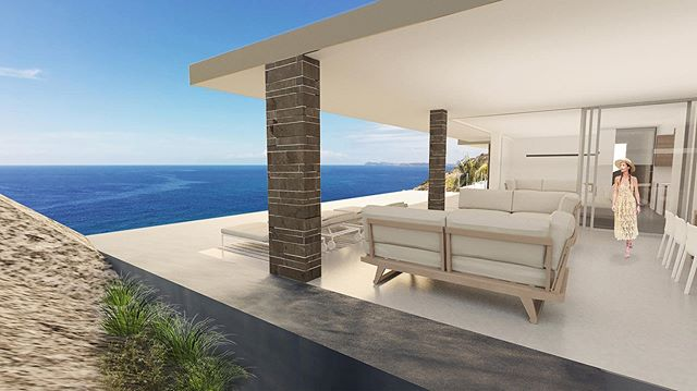 Concept view for our Boulder Residence. . . . #architecture #design #interiordesign #bvi #bvistrong #villa #caribbean #beachvilla #poolview