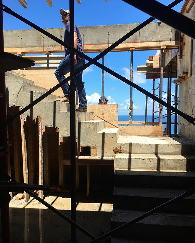 Stairs on site. . . . #architecture #construction #site #interiordesign #design #caribbean #BVI #vill