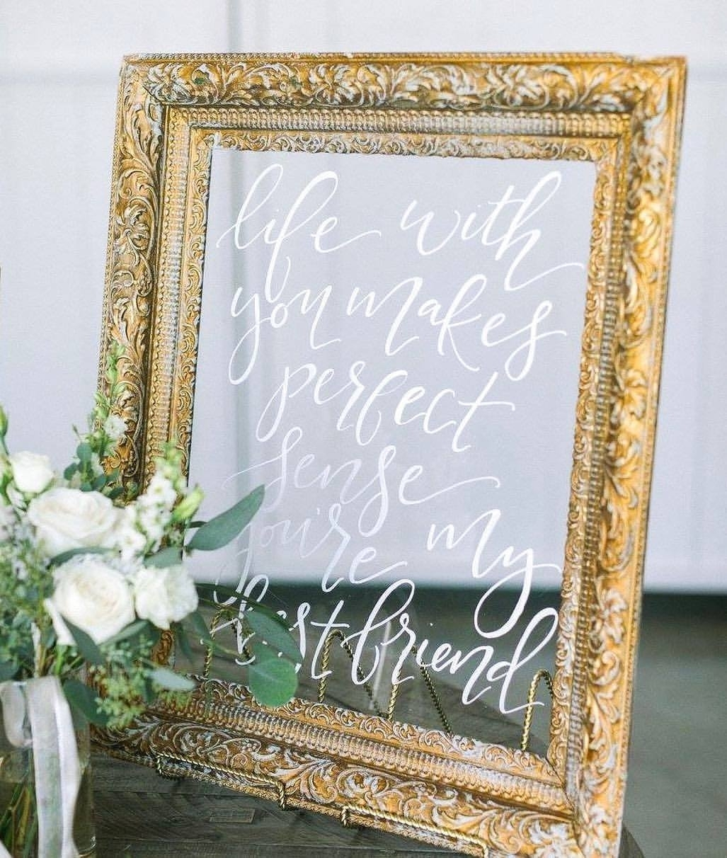 Plexiglass in a Vintage Frame (photo: Ellen Ashton)