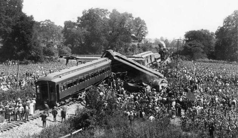 !918 Train Wreck at Dutchman's Curve