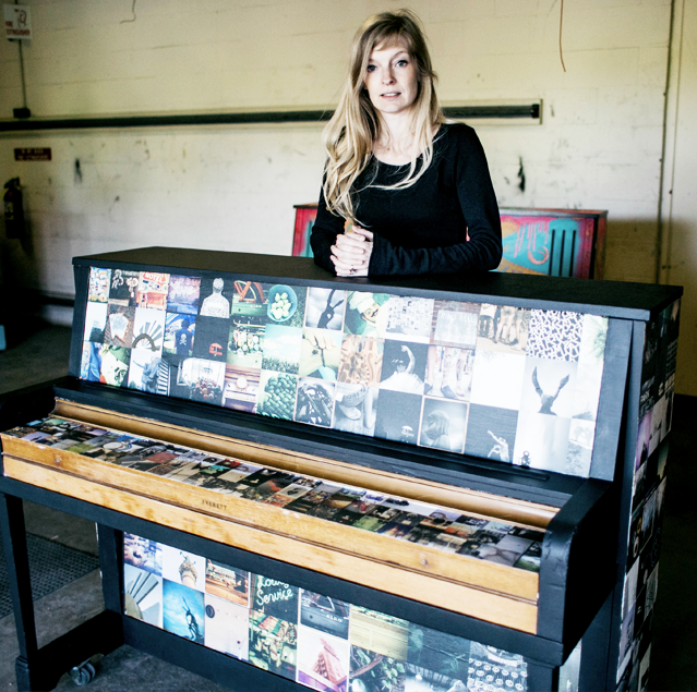 """Jami Milne     Jami Milne is an artist, wife and mother, specializing in photography that captures often obscure and unnoticed moments. """"  I am interested in covering a piano with black and white imagery specific to Des Moines – people, places and icons of our city."""""""