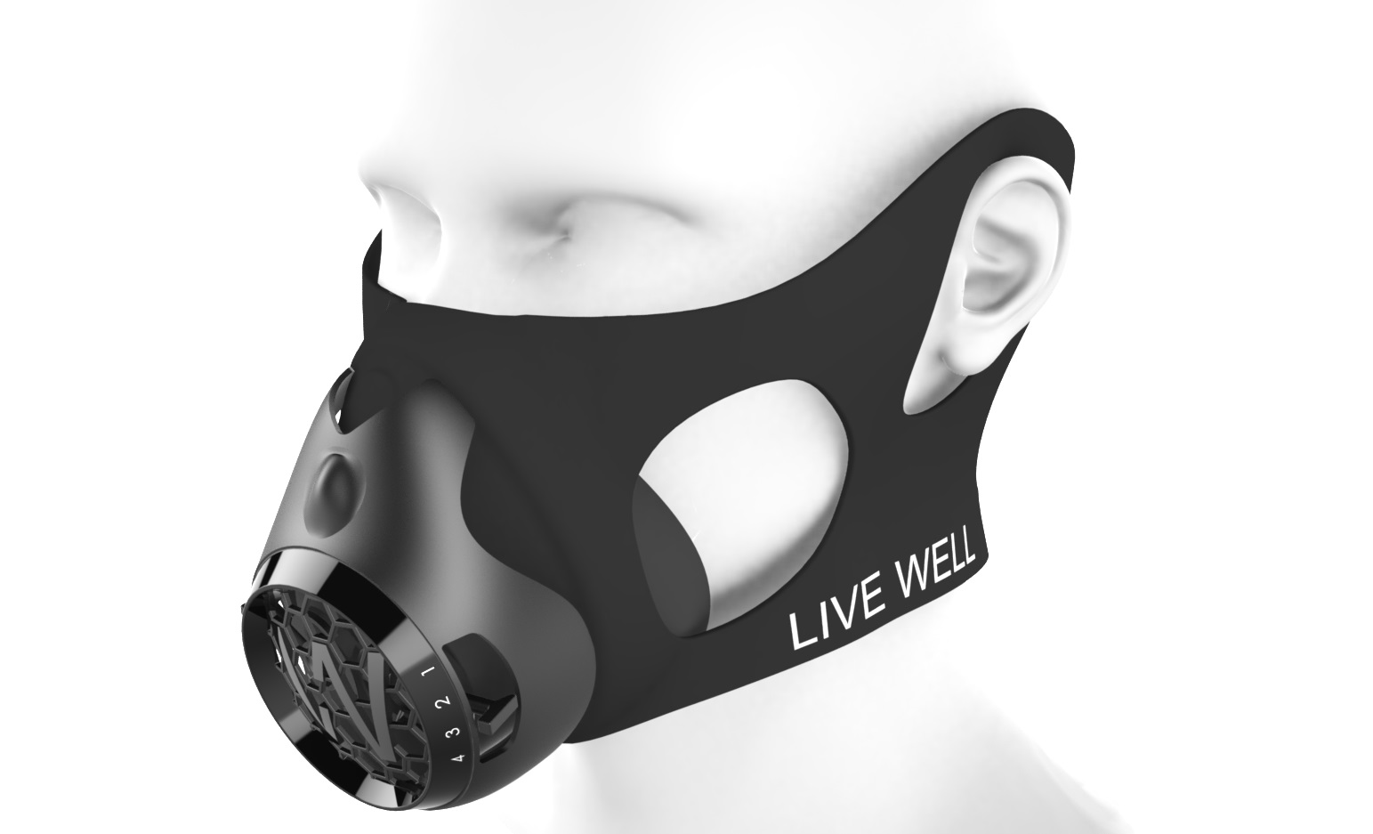Mask render with head