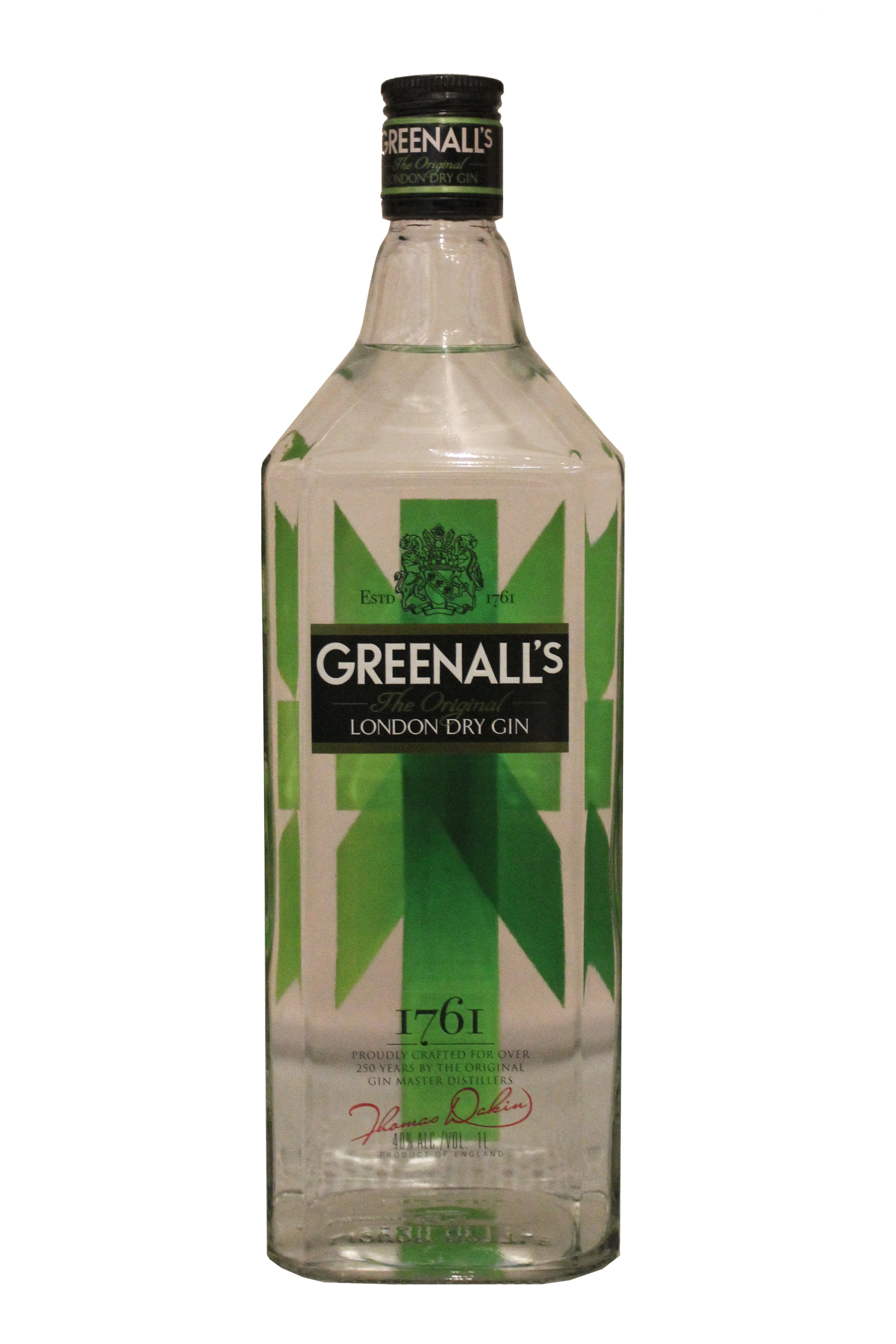 London Dry Gin  Greenall's, England