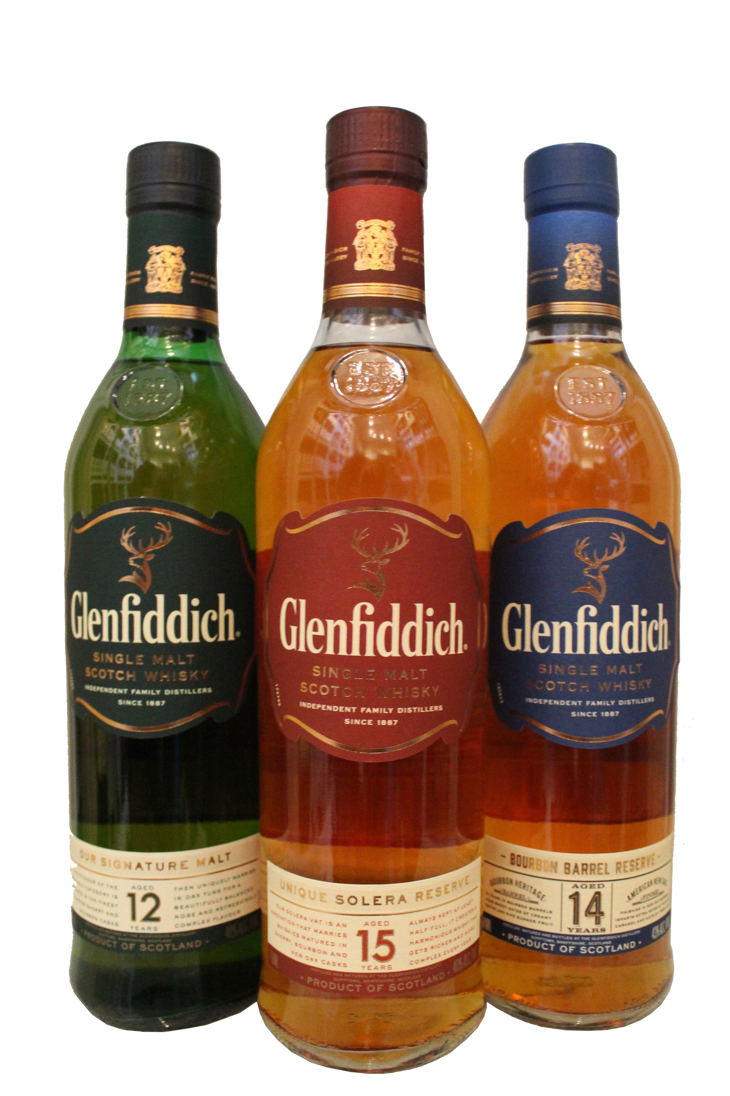 Glenfiddich  Aged Single-Malt Scotch Whiskey Collection