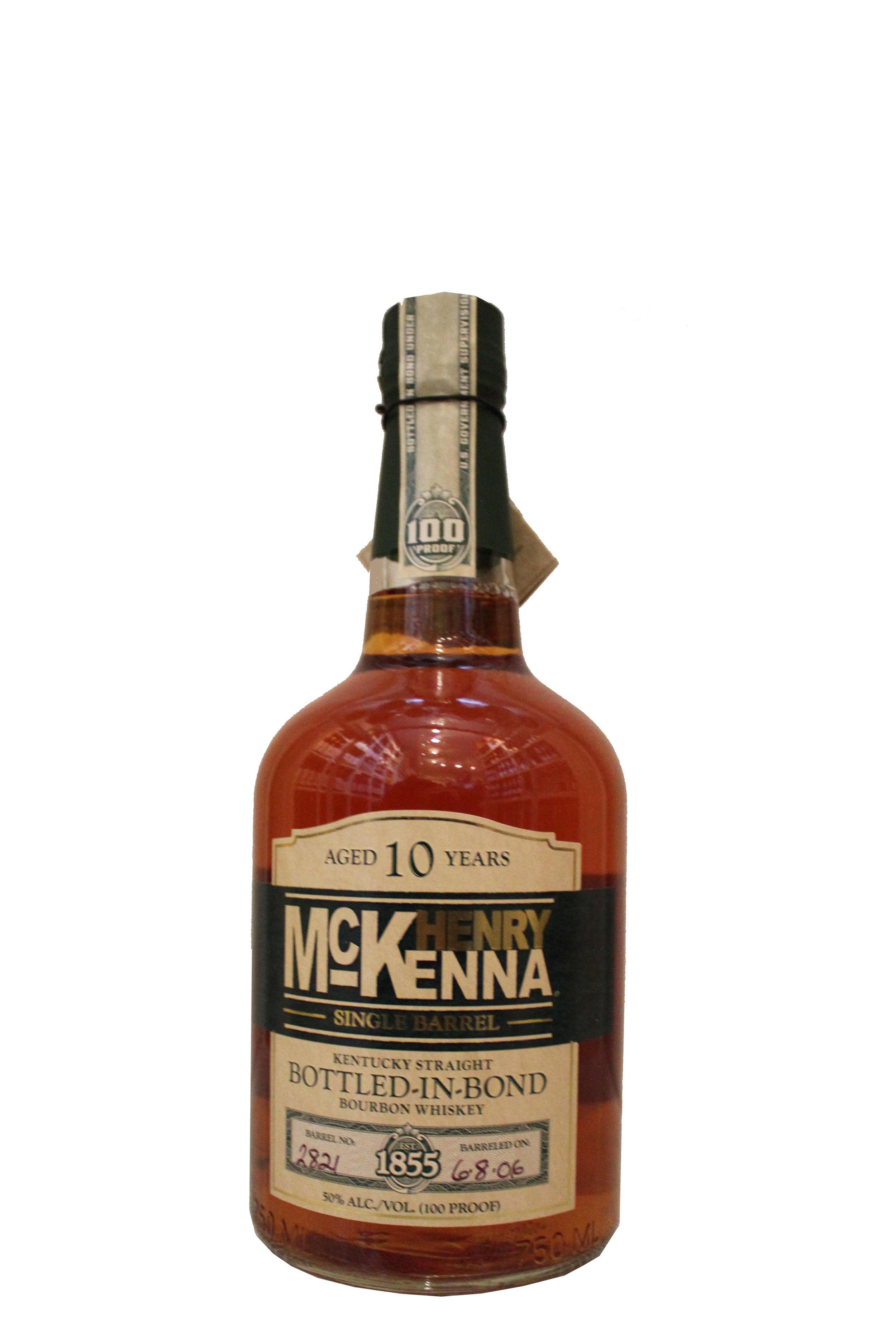 10-year Bourbon Whiskey,  Henry   Mckenna, Kentucky
