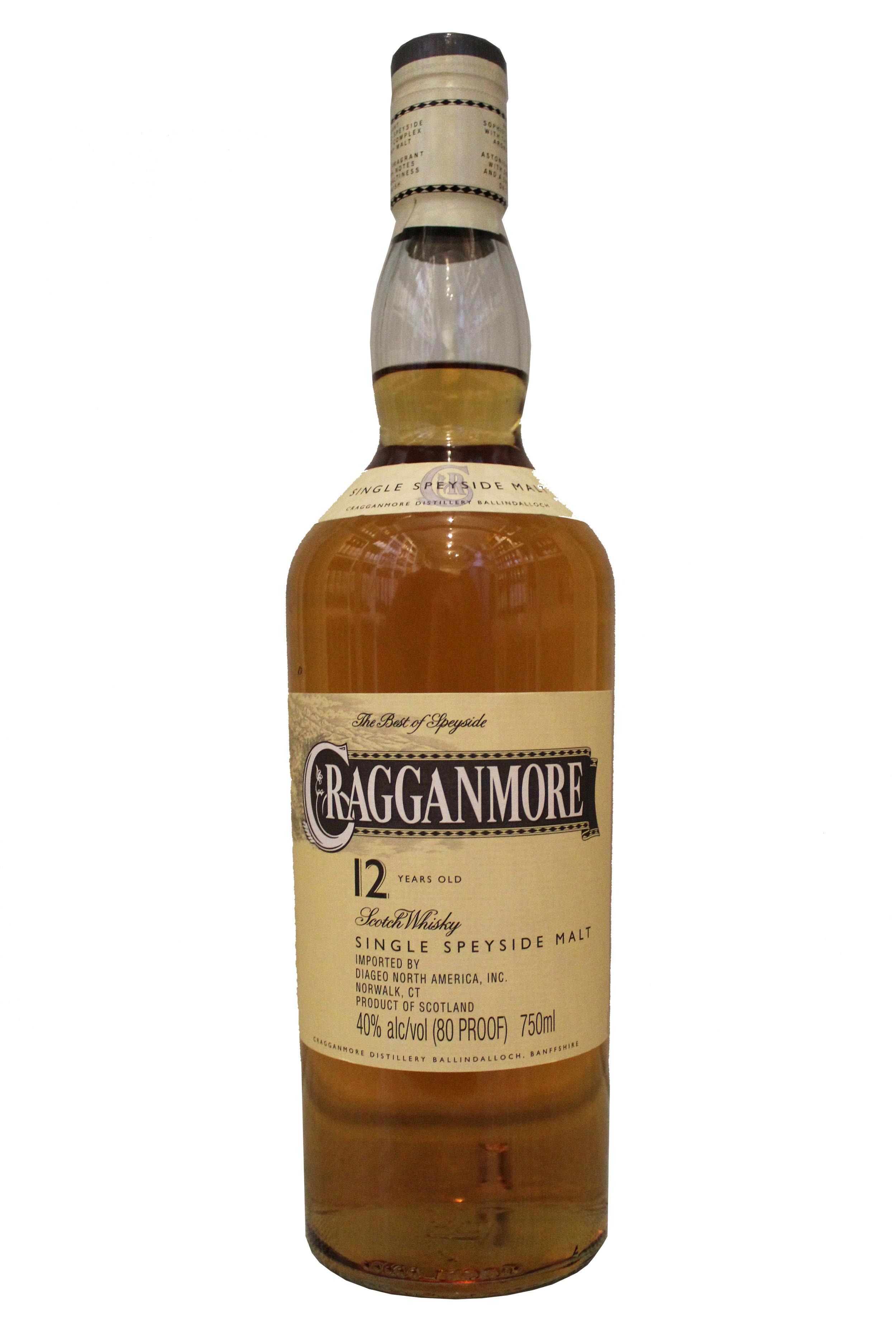 Single Malt Scotch Whiskey  Cragganmore, Scotland