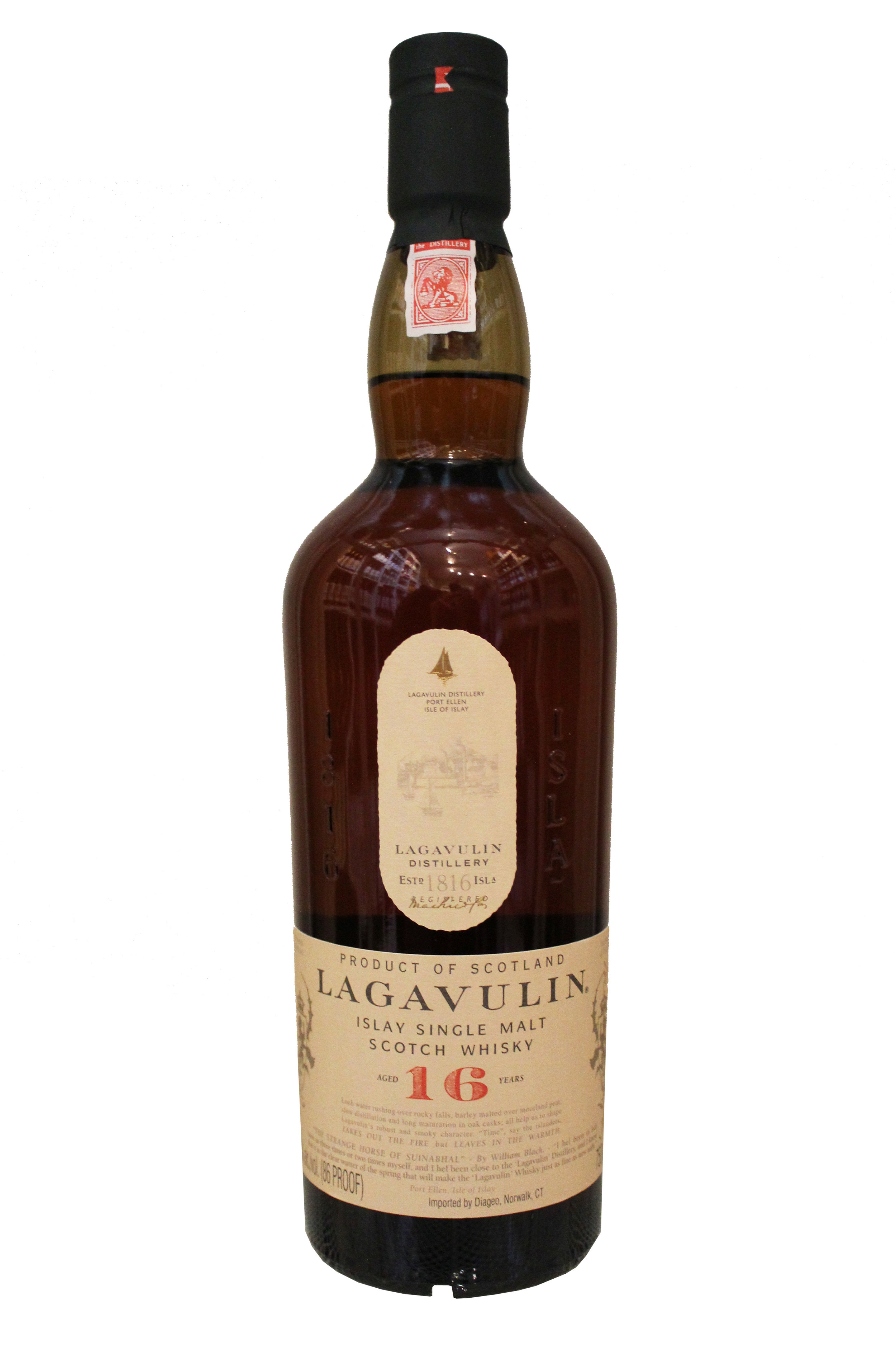 16-Year Single Malt Scotch Whiskey  Lagavulin, Scotland