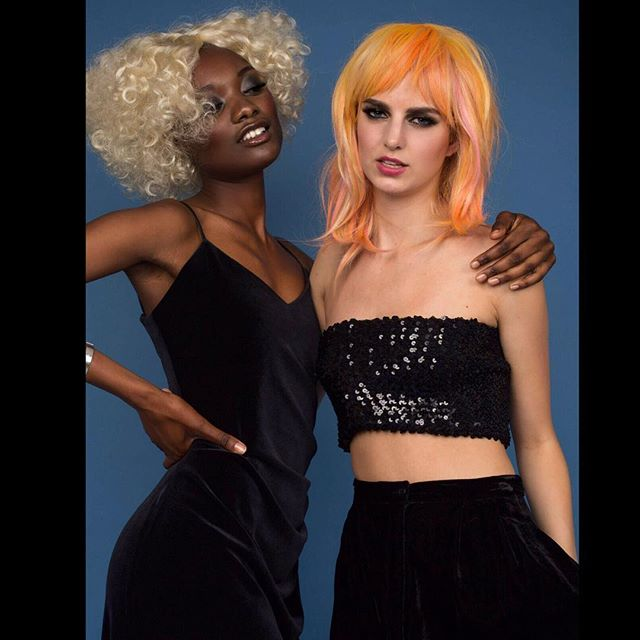 Craving #Europe & a #wig #photoshoot Wig haircolor and cuts: Me 🎨✂️ Photography: @jonaswall_  Makeup: @emikesantos  Model: @theresejacobsen @soukeynagueye with @lindmodels  Creative Directon: @jonaswall_ and Me #independentartist #travelingartist #location #Gothenburh #Sweden #nycbased #nyc #manhattan #brooklyn #nycartist #nycstylist #nychair #wigs #wigfun #editorial ❤️🔥📸
