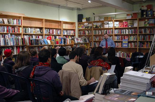 Joel at his second NYC reading at Bluestockings Book Store on the Lower East Side - Photo: Brittany Boyd, a VISTA with NYCCAH