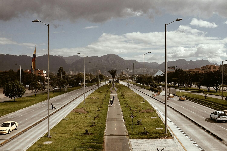 The mountains of Bogotá.