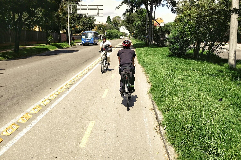 Bike lane in Bogotá.