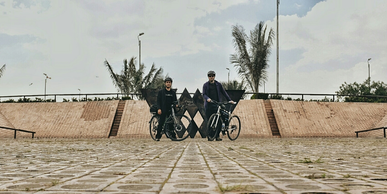 Urban biking.