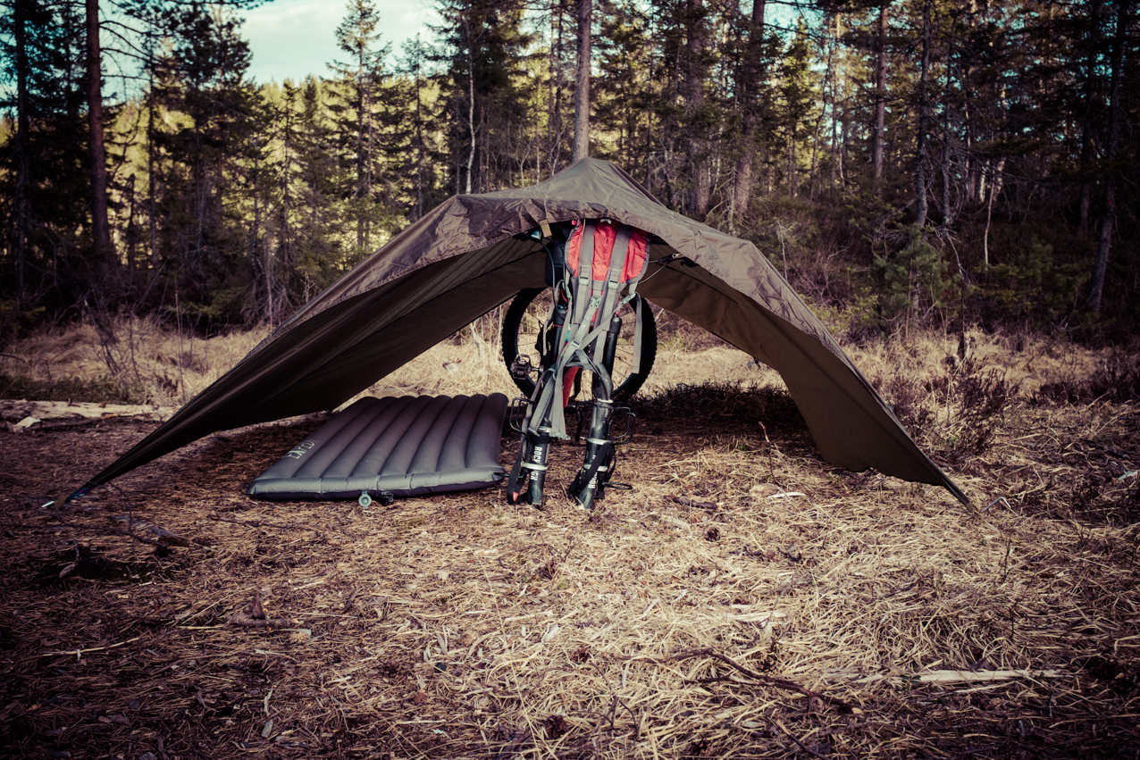 Reluctantly, the bike even doubles as a tent pole.