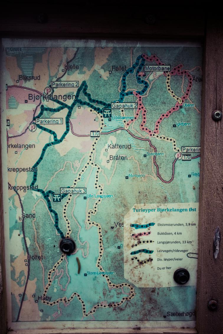 Gode kart på Bjørkelangen gjør de lett å finne fram.