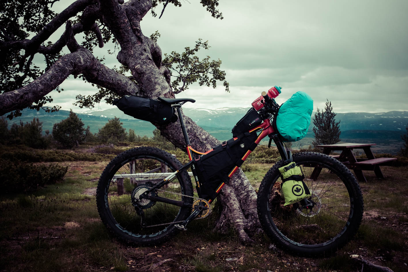This is how you pack when bikepacking!