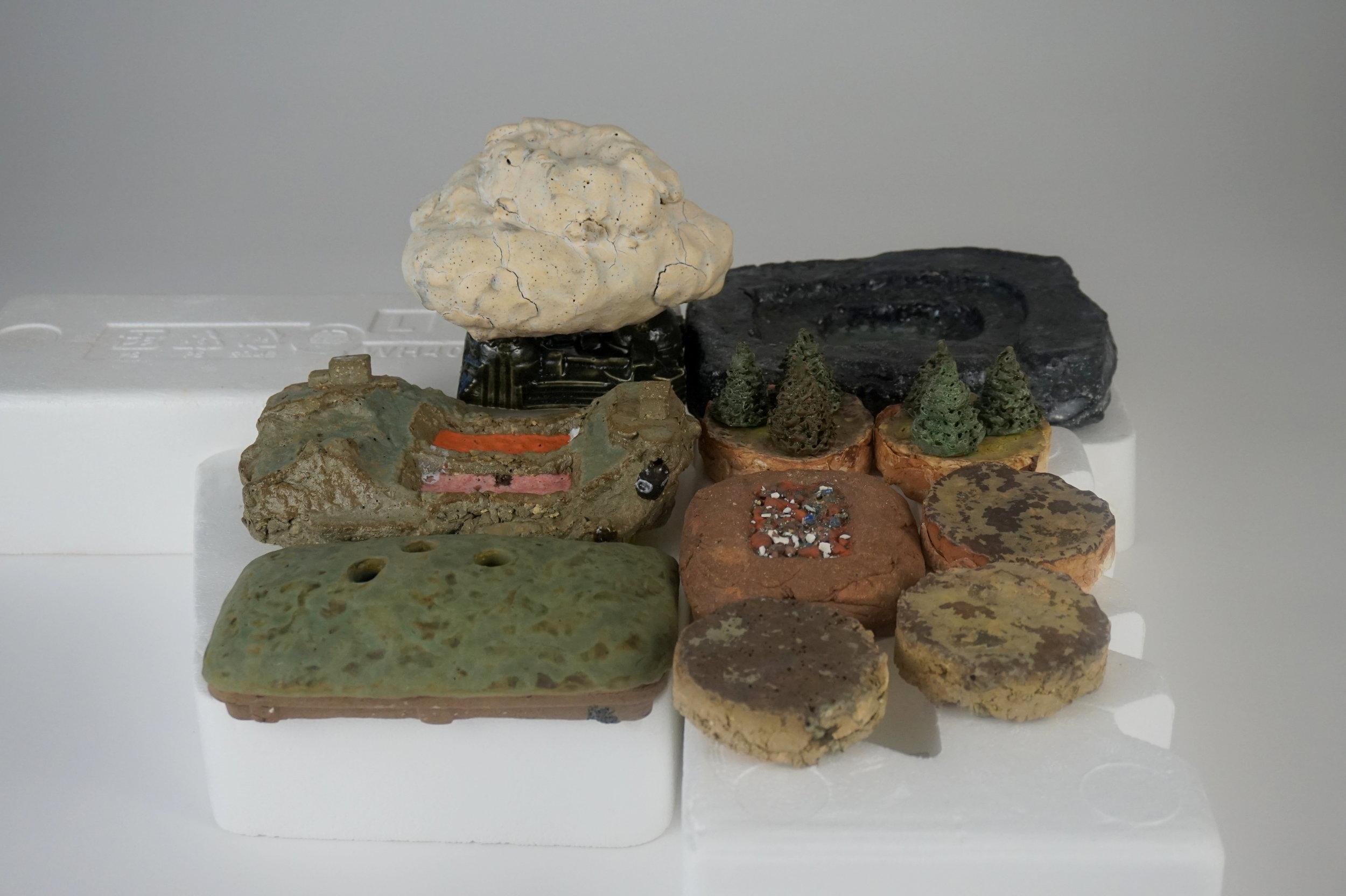 06 Coal Mine Ashtray and Refinery Soap Dish.JPG