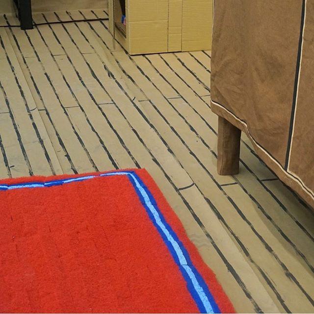 just put in some hardwood floors #hardwoodfloors #installationart #lookalike #rug #finals