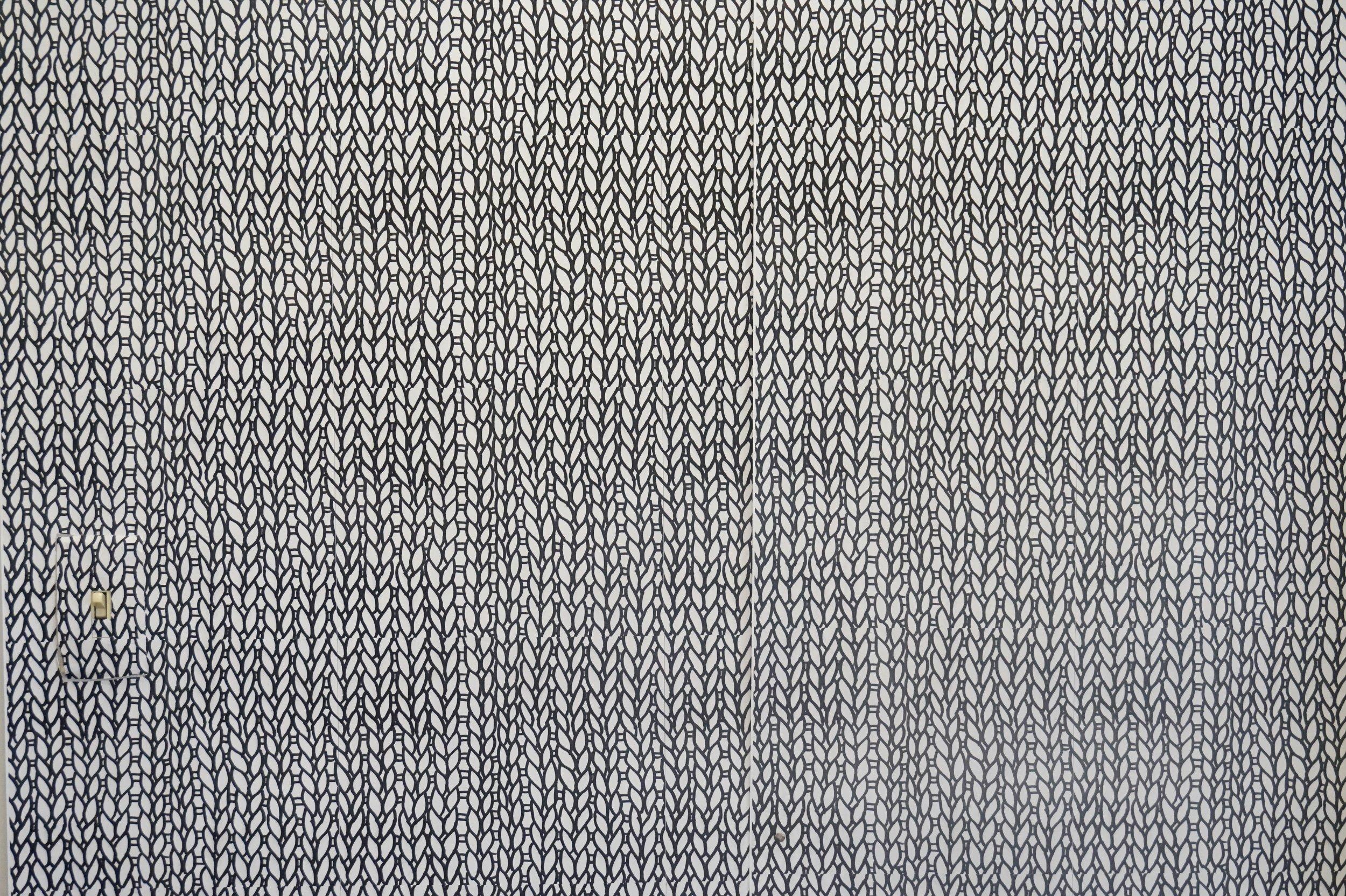 Knit Print Wallpaper