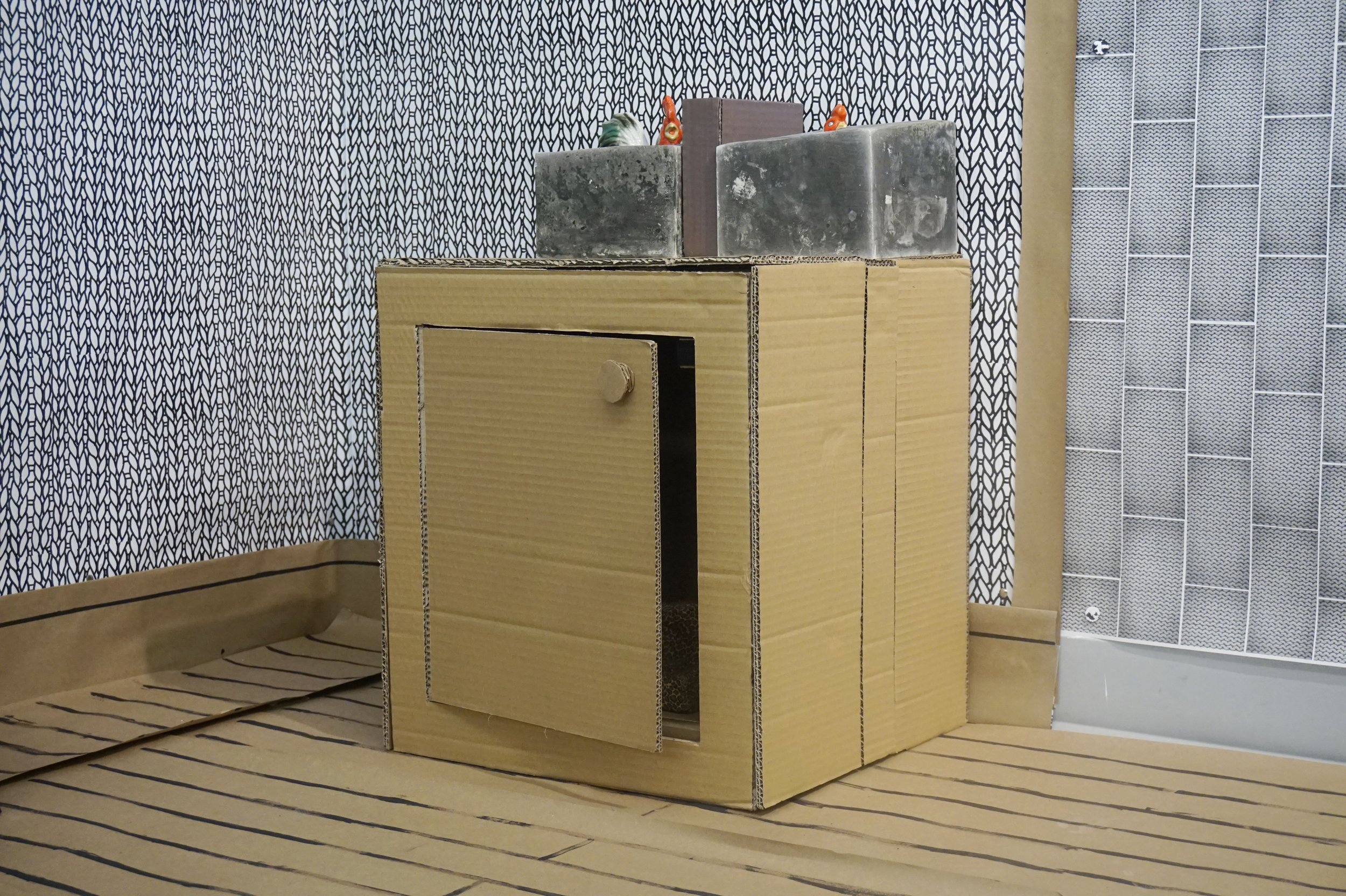 Small Cabinet with Chickens