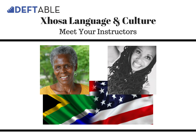 Your webinar modules are taught by a mother/daughter duo . You will learn more about  Daphne Meliwe Caga Nxumalo (born and raised in South Africa) and  Zithobile Zodwa Nxumalo  (born in Swaziland, raised in North Carolina) throughout the  Xhosa webinar experience .