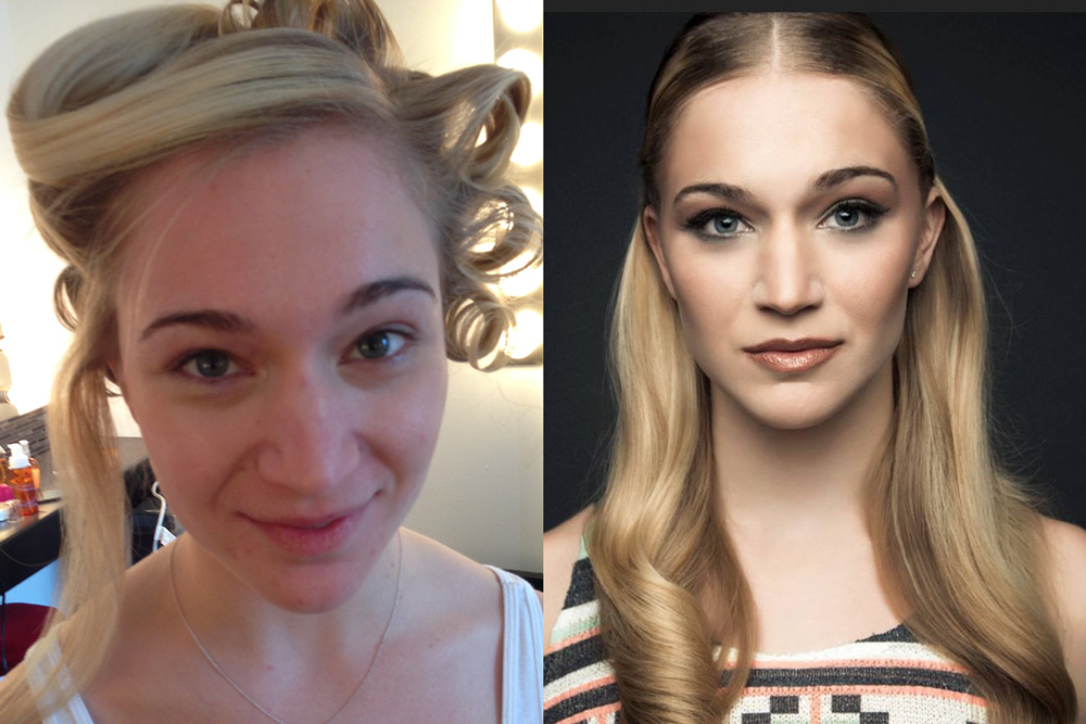 Before and After Makeup - Blende