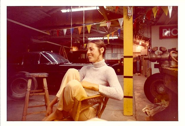 One of my favorite photos of my mom hanging out at dads garage ... 52 years latter they still have these smiles for each other & they're still hanging out in the garage together♥️ Love you guys so much