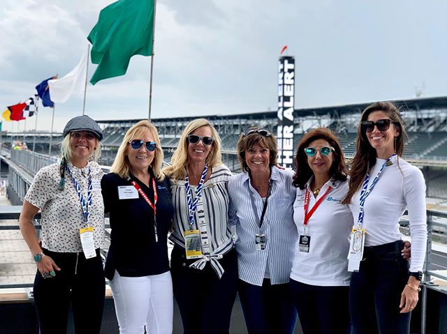 So hard to find the words to describe this moment from this past weekend, these women, and the experience of being at Indy 500 qualifying day together.  Lyn St James @lynstjames  Jessie Combs @thejessicombs  Tina Smith @sgtomama & @techforcefoundation  Karen Salvaggio @karen.salvaggio.1 & Lyn Kehoe @shiftupnow ...the world is a better place with you all in my life. Beyond grateful to be part of this group. It always brings me peace to find more of my tribe. Those friends that just get it...it's rare but when it happens it's so sweet.  For those who don't know Lyn St James is a 7 time Indy 500 driver and one of only 9 women to have ever driven Indy. She showed us what only a respected 7 time driver could; everything from the garages, tech inspection, pits, the Pagoda, and being there at the starting line qualifying day as the first team fired up & took off. It was beyond behind the scenes and completely blew the lid off of what I had thought was possible.  We figured out between the six of us, there is around 1,358 MPH and none of us are anywhere close to slowing down in fact part of the reason we got together was to see what we can do to support women in Motorsports and the ideas were incredibly exciting.  Thank you Lyn for seeing us, leading us & being a mentor to so many.  #womenracers #shiftupnow #techforcefoundation #ladydriven  #indy500 #ims #thisismay #landspeed #landspeedracing #womensupportingwomen #ilovedriving #lynstjames #jessicombs #tinasmith  #karensalvaggio #lynnkehoe #teganhammond #tribe #grateful #blessed #gogetters #kissthebricks