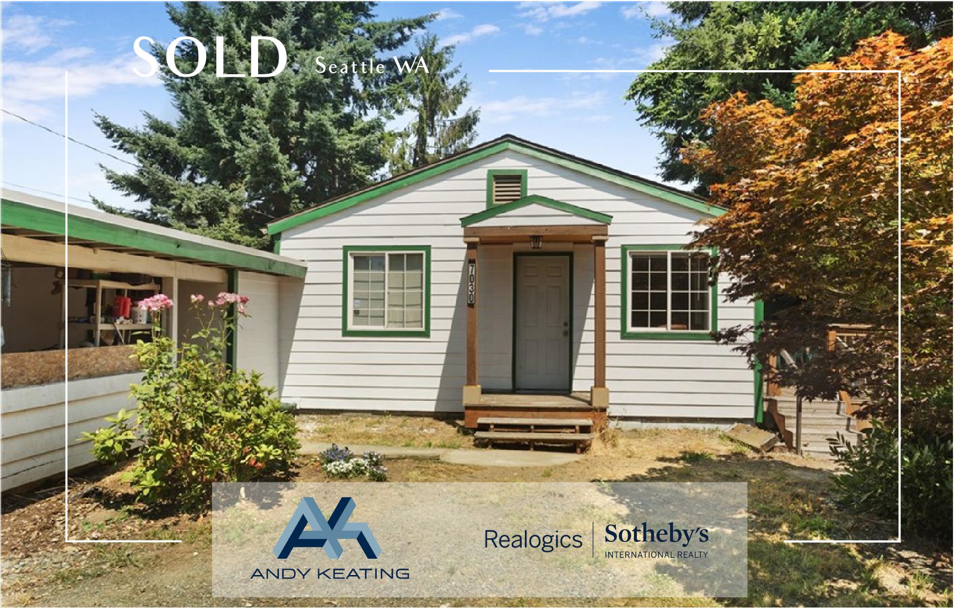 Seattle, WA Represented Seller / $282,500