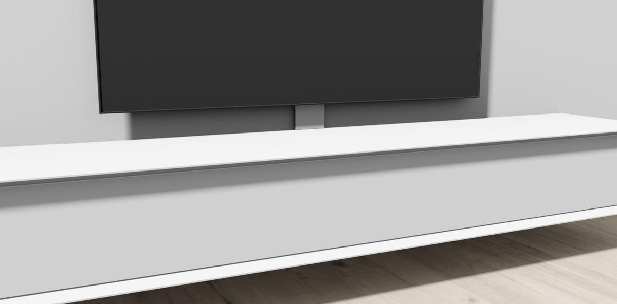 Kabelhals; dekt de kabels van meubel naar TV af.