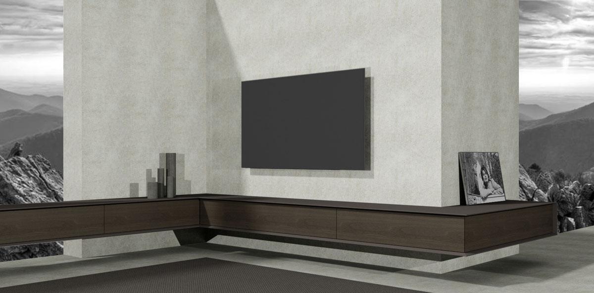 Hoek Tv Kast.Tv Meubel Op Maat Design Meubels Op Maat