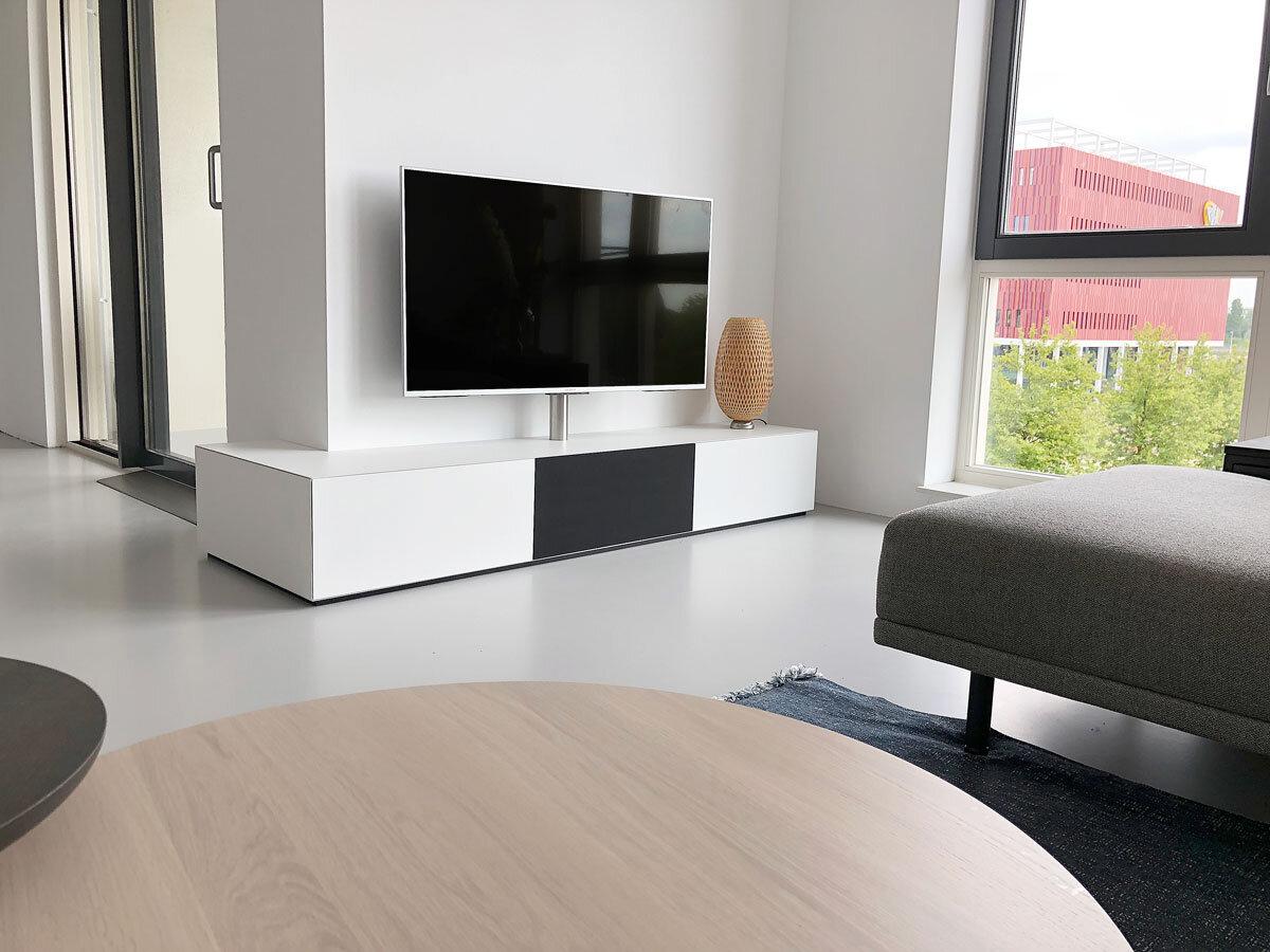Hoek Tv Kast.Fam Geurtsen Tv Meubel Design Meubels Op Maat