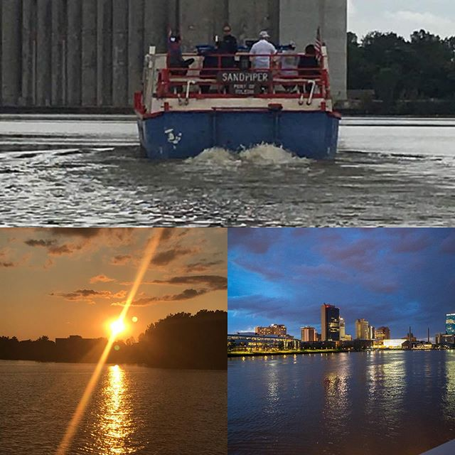 Our weekend fun...Saturday morning Discover the river with our good friends from UT Lake Erie center! Then we end our weekend with sunset and city lights cruise! Call us at 419-537-1212 or go to our website www.sandpiperboat.com #sandpiperboat #weekendfun #familynight #utlakeeriecenter #sunsetandcitylights