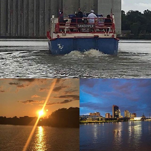 Come and take a relaxing Sunset Cruise and City Lights cruise tonight 7pm-9pm. We only have a few more Sundays left before the season ends. Book online at www.sandpiperboat.com or call419-537-1212. Remember, all cruises are BYOB. #sandpiperboat #maumeeriver #itmatterswhereyoumakeit #youwilldobetterintoledo