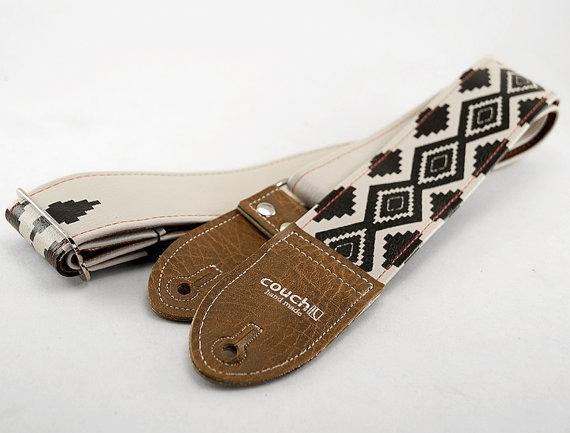 Tribal print guitar strap