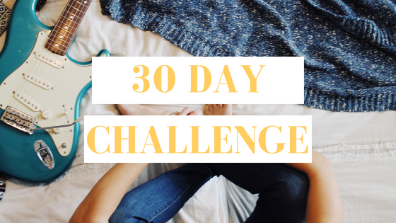 online guitar lessons, 30 day challenge