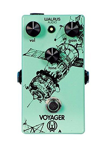 Walrus Audio Voyager - This is a great light gain/ pre amp overdrive. What I have noticed about this pedal is it really cuts through and has a very bright, clean feel to it. I use it as my lowest level of overdrive and love how it sounds with my delay and reverb!