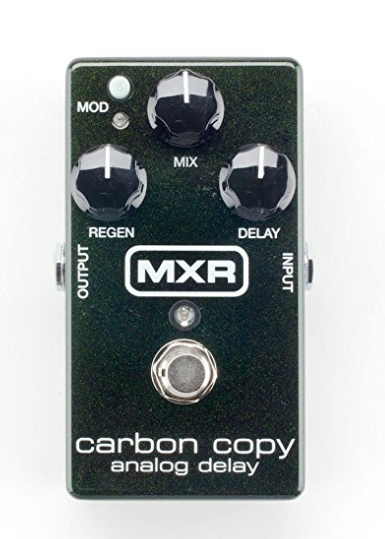 Carbon Copy Analog Delay - This is such a great analog delay because it's super easy to use and you can usually find one at a great deal (more about that here). It has a mod button too which I love (I don't use it with the mod setting on my Blue Sky however!). This adds a really great spacey delay and is super straightforward to work which is nice!
