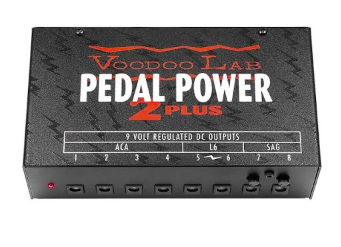 Pedal Power 2 Plus - Good ole standard pedal power! If you are super new to setting up a pedal board, this little guy goes underneath your board and you plug all your pedals into this one power supply using power cables.