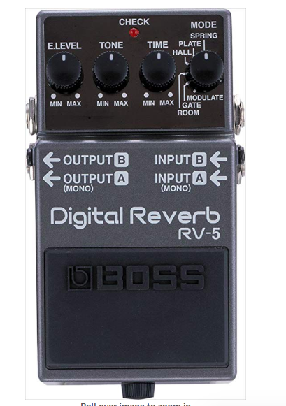 Boss RV5 - All all round classic and gorgeous reverb.
