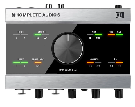 "Komplete Audio 6 Recording Interface - I used this interface all of the time for recording into Logic and love it. It's perfect for someone getting started at recording and has a 1/4"" headphone jack, 2 inputs for mic or quarter inch cables. It has been exactly what I need!"
