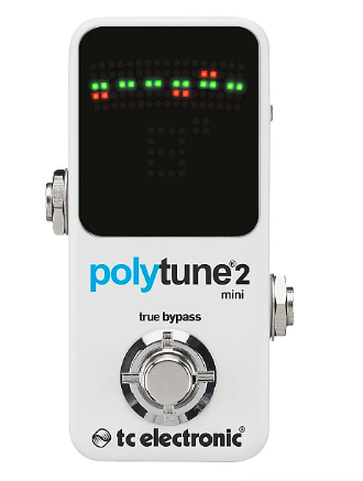 Polytune Mini 2 - I love this little tuner. It's so small and fits on my pedalboard in an unused space. Also it's really accurate and fast. I like the simplicity of the display for when I'm on stage and have a lot of things to focus on!